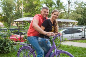 как фотографироваться с велосипедом